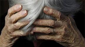 Elder Head in Hands