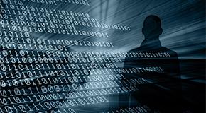 Data Breaches - hacker in the shadows.