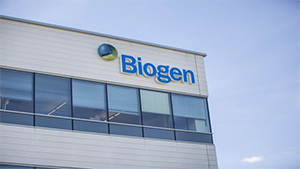 Biogen building with logo.
