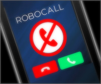 Cell phone showing a robo call.