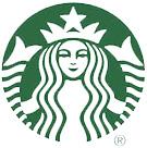 Green and white Starbucks logo.