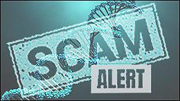 Illustration of a DNA scam alert.