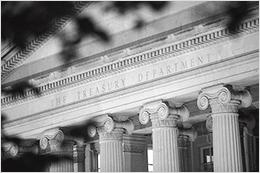 Photo of the US Treasury Building